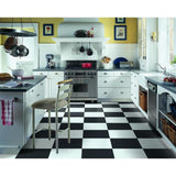 Armstrong Flooring Alterna 14-piece 16-in x 16-in Groutable Solid Betcha Black Glue (Adhesive) Vinyl Tile