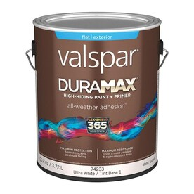Valspar Duramax Base 1 Flat Exterior Tintable Paint (Actual Net Contents: 126-fl oz)