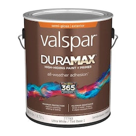 Valspar Duramax Base 1 Semi-Gloss Exterior Tintable Paint (Actual Net Contents: 126-fl oz)