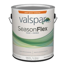Valspar SeasonFlex Base 1 Semi-Gloss Exterior Tintable Paint (Actual Net Contents: 126-fl oz)