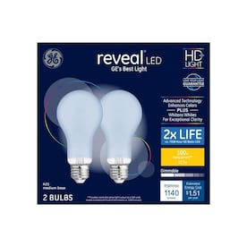 GE Reveal 100-Watt EQ A21 Color-enhancing Dimmable LED Light Bulb (2-Pack) - Hardwarestore Delivery