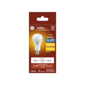 GE Relax-Watt EQ A21 Soft White 3-Way Bulb LED Light Bulb - Hardwarestore Delivery