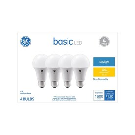 GE Basic 100-Watt EQ A19 Daylight LED Light Bulb (4-Pack) - Hardwarestore Delivery