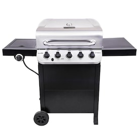 Char-Broil Performance Black and Stainless 5 Liquid Propane Gas Grill with 1 Side Burner