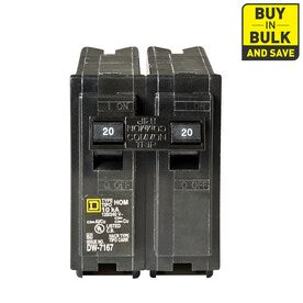 Square D Homeline 20-Amp 2-Pole Standard Trip Circuit Breaker - Hardwarestore Delivery