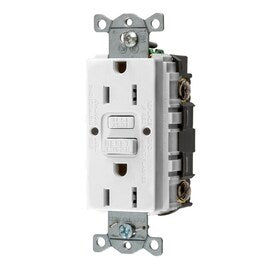 Hubbell White 15-Amp Decorator GFCI Residential/Commercial (3-Pack) Outlet - Hardwarestore Delivery