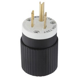Hubbell 15-Amp 125-Volt Black 3-wire Grounding Plug - Hardwarestore Delivery