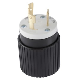 Hubbell 30-Amp-Volt Black/White 3-Wire Grounding Plug - Hardwarestore Delivery