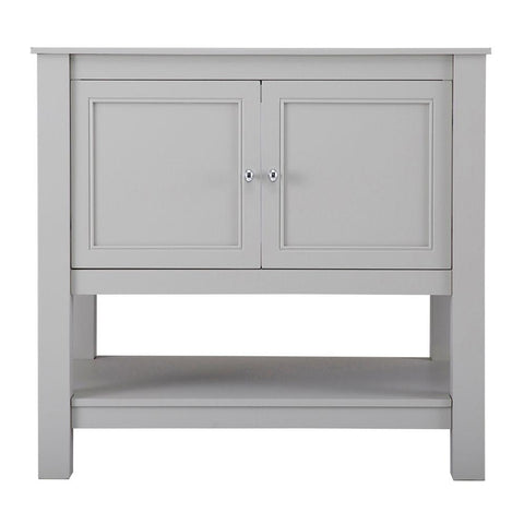 Gazette 60 in. W Bath Vanity Cabinet Only in Grey for Center Bowl Design
