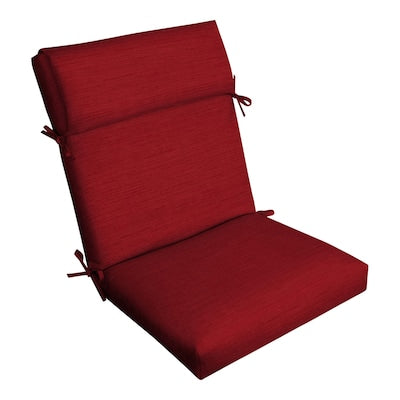 allen + roth Cherry Red High Back Patio Chair Cushion