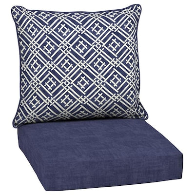 Style Selections 2-Piece Tilda Trellis Deep Seat Patio Chair Cushion