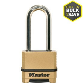 Master Lock 2.27-in Brass Combination Padlock