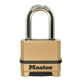 Master Lock 2.273-in Brass Combination Padlock