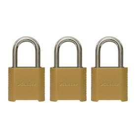 Master Lock 3-Pack 2-in Zinc Combination Padlock