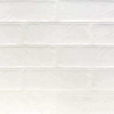Ivy Hill Tile      Pier White 4 in. x 12 in. 6 mm Polished Ceramic Subway Wall Tile (33-Piece) (10.76 sq. ft./Box)