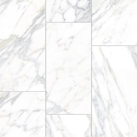 TRUE PORCELAIN CO. Arabescato Gold 12-in x 24-in Porcelain Tile (Common: 12-in x 24-in; Actual: 11.73-in x 23.58-in)
