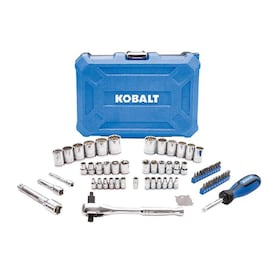 Kobalt 64-Piece Standard (SAE) and Metric Polished Chrome Mechanics Tool Set