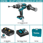 18-Volt LXT Brushless Lithium-Ion 1/2 in. Cordless Hammer Drill Kit with (2) Batteries (4.0Ah), Charger and Hard Case