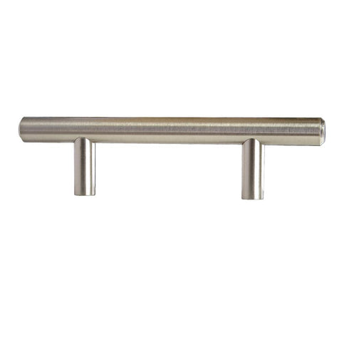 3 in. (76.2 mm) Center-to-Center Satin Nickel Modern Straight Euro Style Bar Cabinet Pull (25-Pack)