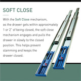 22 in. Soft Close Ball Bearing Full Extension Drawer Slide (5-Pair)
