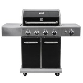 Kenmore Black and Stainless Steel 4 Liquid Propane infrared Gas Grill with 1 Side Burner
