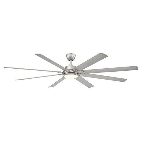 Glenmeadow 84 in. LED Outdoor Brushed Nickel Ceiling Fan with Remote Control
