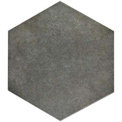 Merola Tile      Vintage Hex Marengo 8-5/8 in. x 9-7/8 in. Porcelain Floor and Wall Tile (11.56 sq. ft. / case)