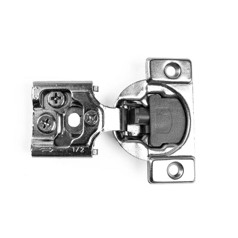 105-Degree 1/2 in. (35 mm) Overlay Soft Close Face Frame Cabinet Hinges with Installation Screws (1-Pair)