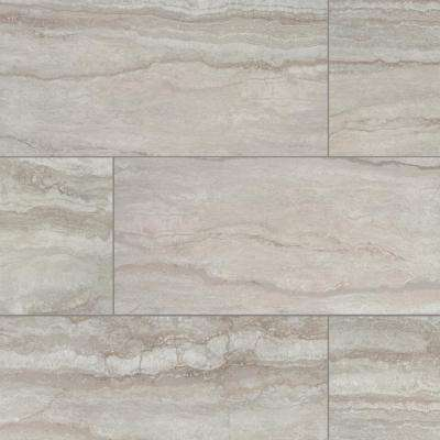 Marazzi      Vettuno Greige 12 in. x 24 in. Glazed Porcelain Floor and Wall Tile (15.6 sq. ft. / case)