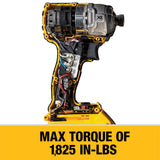 20-Volt MAX XR Lithium-Ion Cordless Brushless 1/4 in. Cordless 3-Speed Impact Driver with (2) Batteries 4Ah and Charger