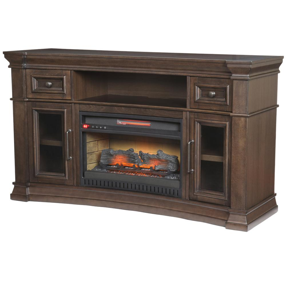 Oak Park 60 In Freestanding Electric Fireplace Tv Stand In Coffee Super Arbor