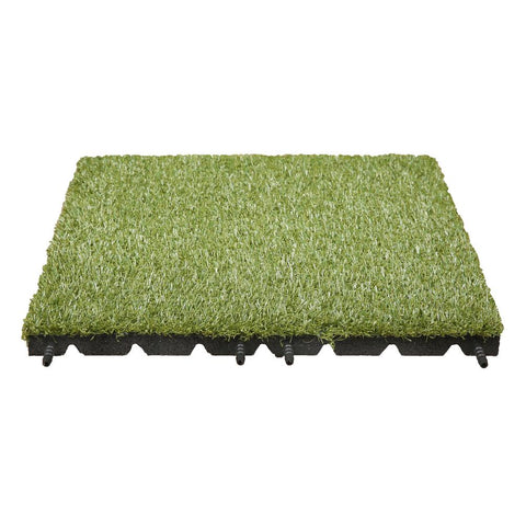 Technoflex 19 in. x 19 in. Artificial Grass Tile (8-Pack)