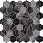MSI      Henley Hexagon 12 in. x 12 in. x 10 mm Textured Marble Mesh-Mounted Mosaic Tile (10 sq. ft. / case)