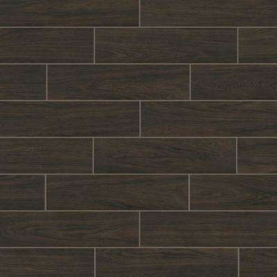 Florida Tile Home Collection      Burlington Walnut 6 in. x 24 in. Porcelain Floor and Wall Tile (14 sq. ft. / case)