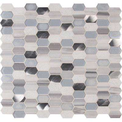 MSI      Harlow Picket 11.5 in. x 12.4 in. x 8 mm Textured Multi-Surface Mesh-Mounted Mosaic Tile (9.90 sq. ft. / case)