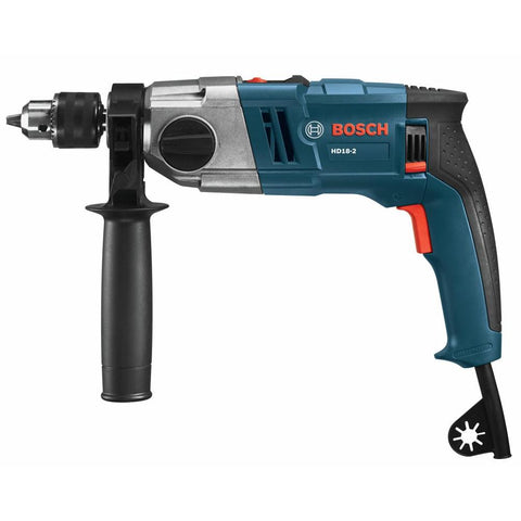8.5 Amp Corded 1/2 in. 2-Speed Concrete/Masonry Variable Speed Hammer Drill with Auxiliary Handle and Depth Gauge