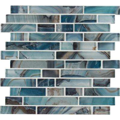 MSI      Night Sky Interlocking 11.81 in. x 11.81 in. x 8mm Matte Glass Mesh-Mounted Mosaic Tile (0.97 sq. ft.)
