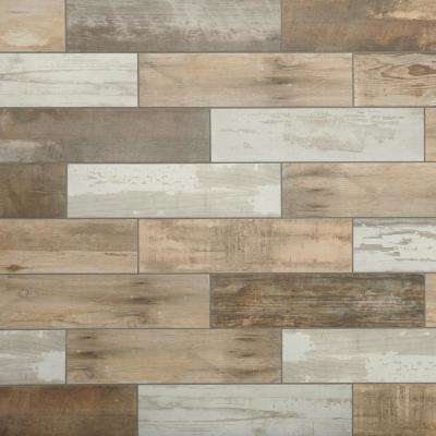 Marazzi      Montagna Wood Vintage Chic 6 in. x 24 in. Porcelain Floor and Wall Tile (14.53 sq. ft. / case)
