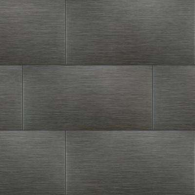 MSI      Metro Gris 12 in. x 24 in. Matte Porcelain Floor and Wall Tile (16 sq. ft./case)