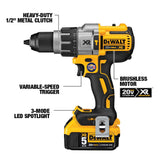 20-Volt MAX XR Lithium-Ion 1/2 in. Premium Cordless Brushless Hammer Drill (Tool-Only) with XR 5Ah Battery Pack
