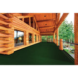Foss Peel and Stick Grizzly Grass 24 in. x 24 in. Rain Forest Artificial Grass Carpet Tiles (15-Pack)