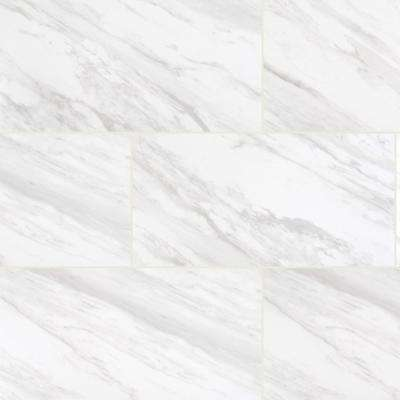 Exclusive         Home Decorators Collection      Kolasus White 12 in. x 24 in. Polished Porcelain Floor and Wall Tile (16 sq. ft./case)
