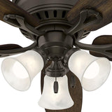 Oakhurst 52 in. LED Indoor Low Profile New Bronze Ceiling Fan with Light Kit
