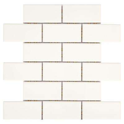 Daltile      Restore Bright White 12 in. x 12 in. x 6.35 mm Ceramic Mosaic Wall Tile (0.83 sq. ft./ piece)