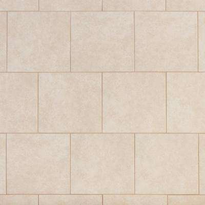 TrafficMASTER      Laguna Bay 12 in. x 12 in. Cream Ceramic Floor and Wall Tile (14.53 sq. ft. / case)