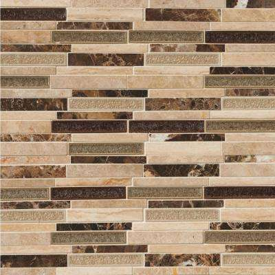 MSI      Stonegate Interlocking 12 in. x 12 in. x 8 mm Glossy Glass Stone Blend Mesh-Mounted Mosaic Wall Tile (1 sq. ft.)