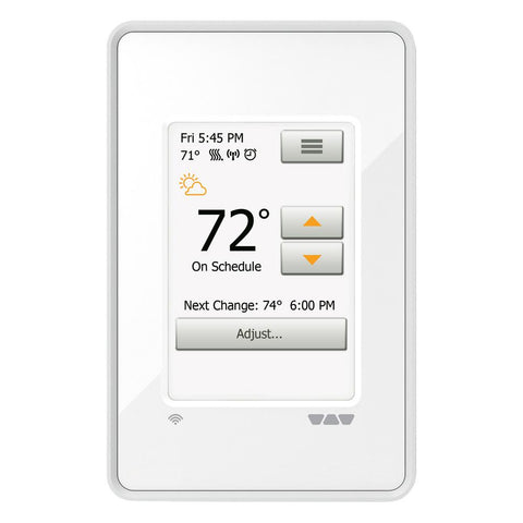 Schluter Ditra-Heat Wi-Fi Programmable Thermostat, Bright White
