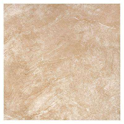 TrafficMASTER      Portland Stone Beige 18 in. x 18 in. Glazed Ceramic Floor and Wall Tile (17.44 sq. ft. / case)