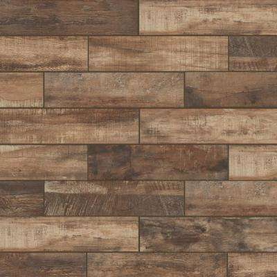 Florida Tile Home Collection      Wind River Beige 6 in. x 24 in. Porcelain Floor and Wall Tile (448 sq. ft. / pallet)