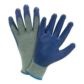 West Chester Large 8-Pack Unisex Poly/Cotton Latex Dipped Multipurpose Gloves